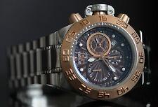 Invicta Mens 43mm Subaqua Noma IV Swiss Made 18k Rose Gold Bezel Watch