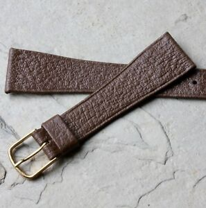 Medium-brown-Hirsch-20mm-Saddle-Leather-vintage-watch-band-great-color-texture