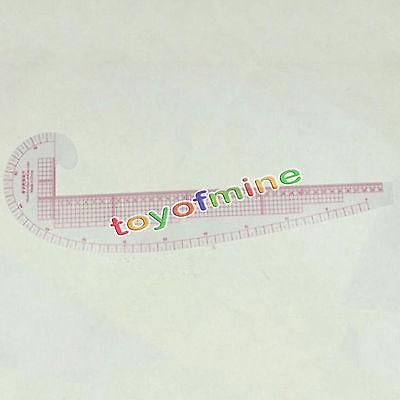Fashion Design Soft Plastic Ruler 3 In 1 Curve Hip Comma Straight Ruler