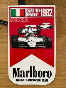 Adesivo Sticker Vintage Originale GP Di Monza 1982 MC Laren Team