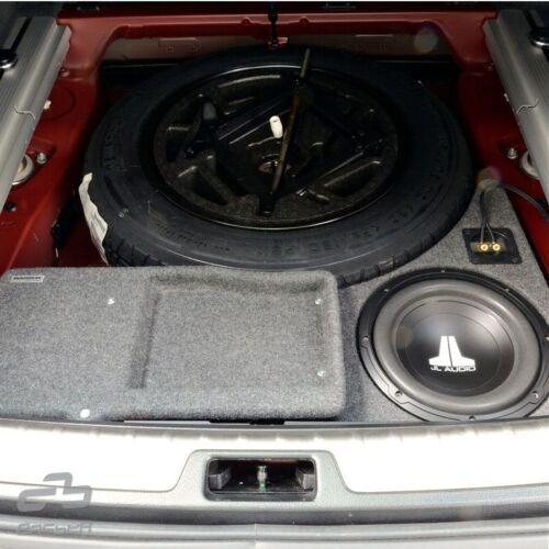 Bmw x5 e70 2006-2013 detrás de rueda de repuesto MDF vacío carcasas para 25cm subwoofer