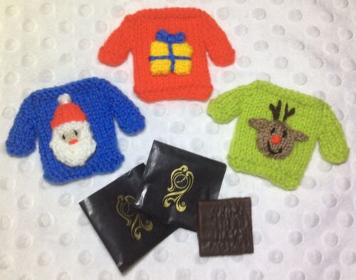 Reindeer Christmas Jumper Mint Covers fits After Eight-Santa KNITTING PATTERN