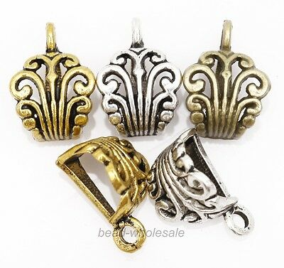 Antique Silver/Gold/Bronze Carved Metal Connectors for Necklace Bracelet 10pcs