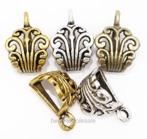 10Pcs Antique Silver//Gold//Bronze Carved Metal Connectors 13x12mm,DIY