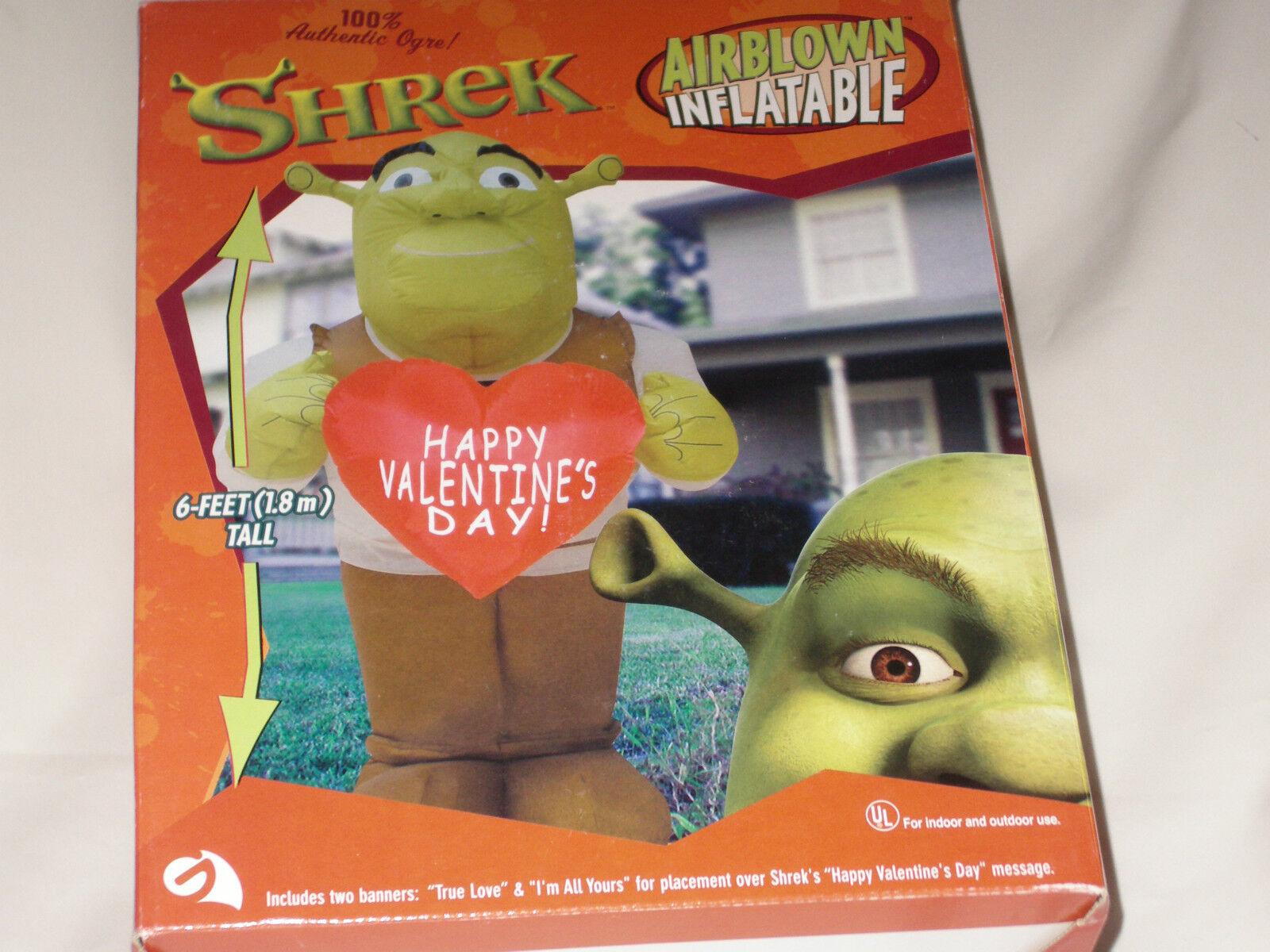 New gemmy valentines day lighted shrek ogre airblown