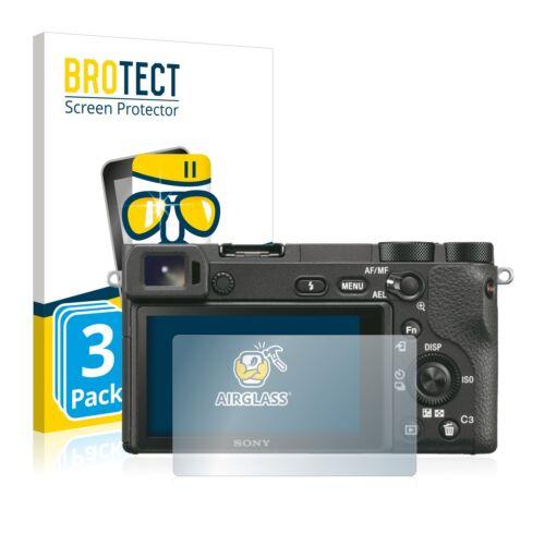 3x Sony Película Protectora De Pantalla de Vidrio 6500 Alpha Protección