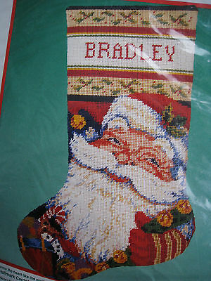 """Dimensions Christmas Needlepoint Stocking Craft Kit,JOLLY OLD ST. NICK,#9074,16"""""""