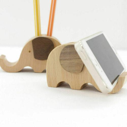 Handyhalter Holz Elefant Design Stiftehalter Schreibtisch Veranstalter Telefon