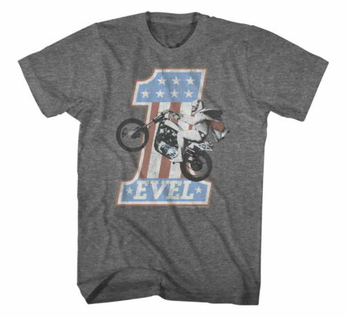 EVEL American Classics Apparel Men/'s Grey One Tee