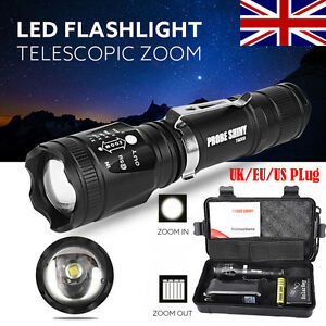 5000LM-X800-Zoomable-XML-T6-LED-Tactical-Flashlight-Set-w-Battery-Charger-Box