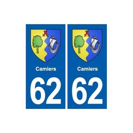 62 Camiers blason autocollant plaque stickers ville -  Angles : droits