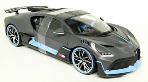 Burago-1-18-Scale-Bugatti-Devo-Matt-Grey-Light-Blue-Hypercar-Diecast-Car