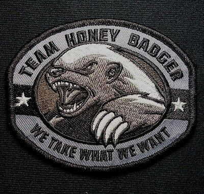 Honey Badger F-ck Around and Find Out Morale Patch 2x3 Hook Patch Redhaededtshirts Made in The USA