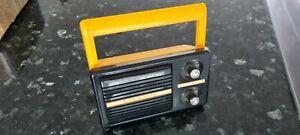 Vintage portable battery radio 1980s retro