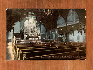 Alabama-AL-Anniston-Interior-St-Michaels-039-amp-All-Angels-Church-ca-1910