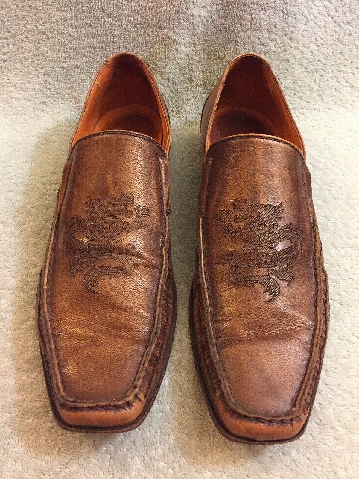 Mark Nason Dragon Stitched Toe Brown Leather shoes Made In  67235 Sz 10.5