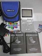 NINTENDO Game Boy Advance SP Konsole silber