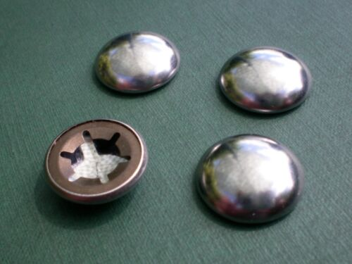 10mm Starlock Plated Dome End Caps x 4 push on axle hub caps for 10mm dia shaft