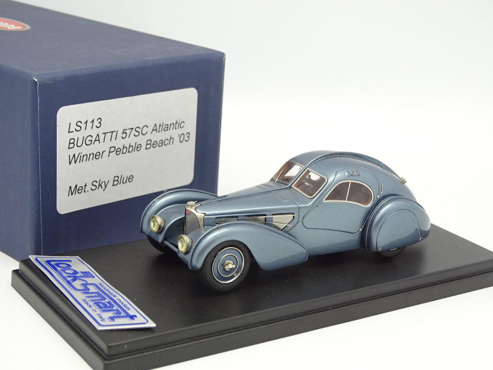 LooksSmkonst 1  43 - Bugatti 57 SC Atlantic 1936 blåe Winner Pebble Beach 2003