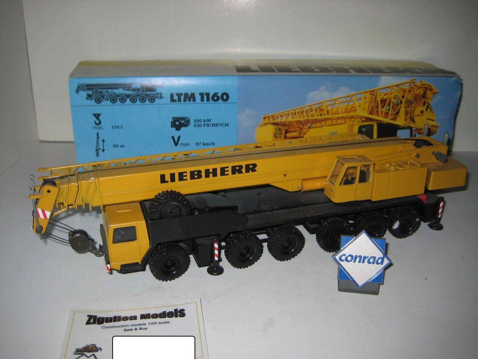 Liebherr ltm 1160 autokran  2082.3 conrad 1 50 original packaging
