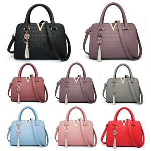 Image Is Loading Fashion Womens Lady Designer Leather Handbag Tote Shoulder