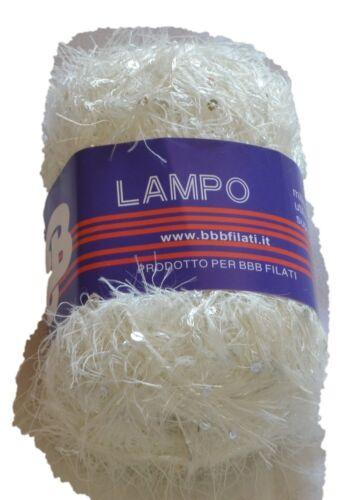 LAMPO MADE IN ITALY GOMITOLO LANA E FILATO CON PAILLETTES BBB TITAN WOOL ART