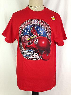 St Louis Cardinals Mens Baseball Shirt M Sz World Series 2004 MLB Cotton