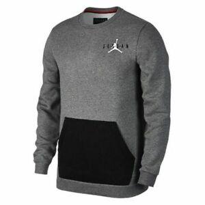 9e42b9ff6595 Men s Nike Air Jordan Fleece Crew Pullover Sweatshirt AA1457 091 NWT ...
