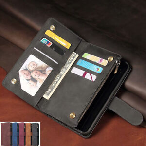 F iPhone 12 11 Pro Max Xs Xr 7 8 6s Magnetic Leather Wallet Card Slot Case Cover