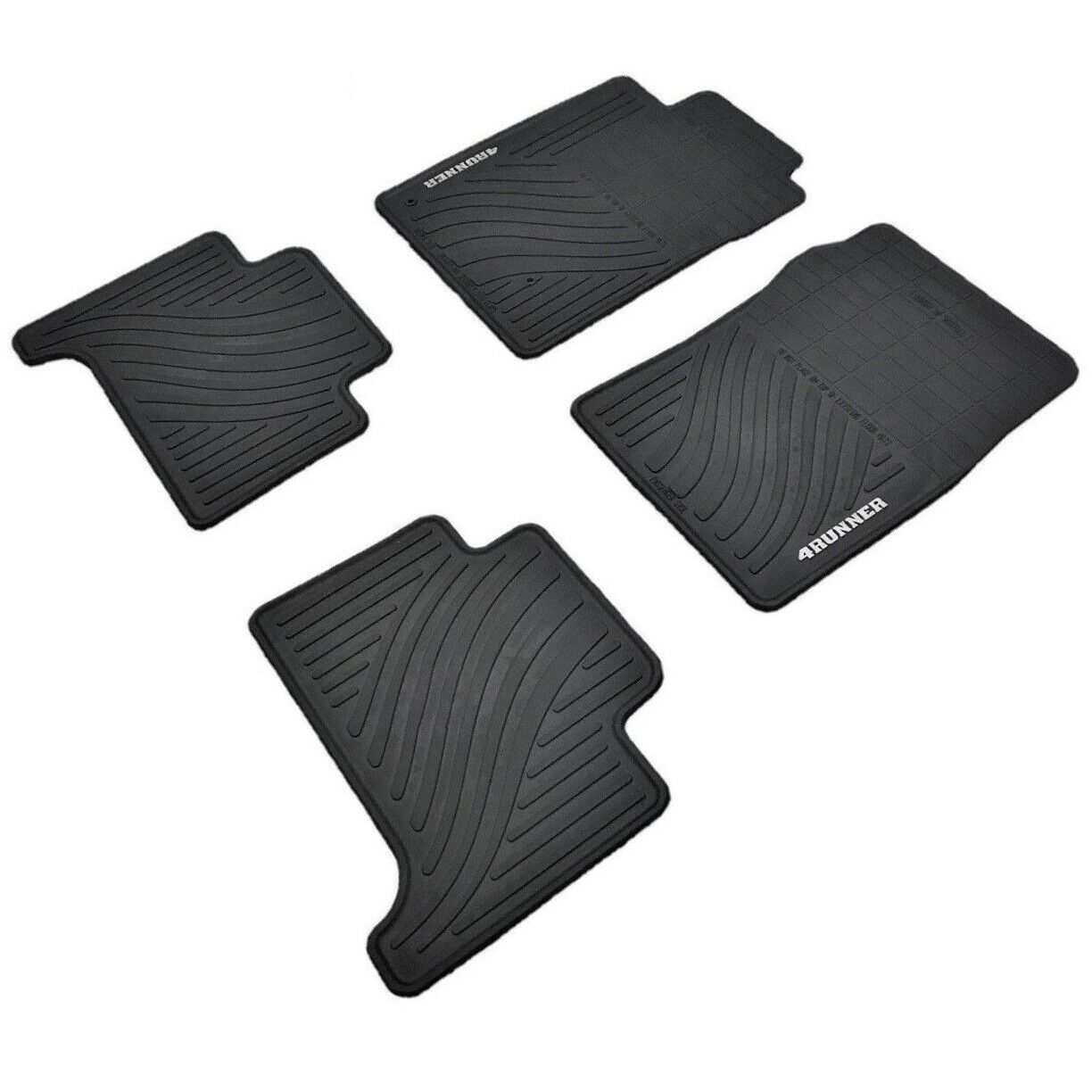Set of 4 Genuine Toyota Accessories PT908-89090-20 Front and Rear All-Weather Floor Mat Black