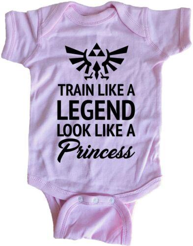 Train Like A Legend Look Like A Princess Infant Baby One Piece