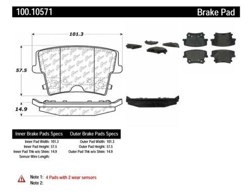 Centric Parts 100.10990 100 Series Brake Pad