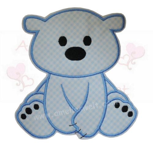 XXL Eisbär Aufbügler Aufnäher Bügelbild Patch Sticker zum aufbügeln bär