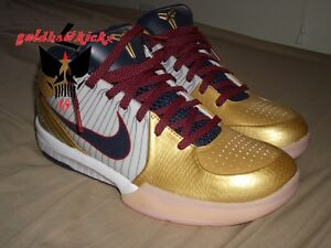 2009 Nike Zoom KOBE IV 4 OLYMPIC GOLD MEDAL USA FTB mamba day dream ... b74a2d3b03