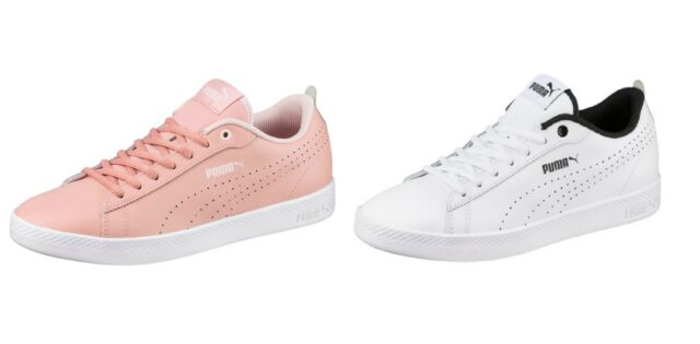 online store 209e4 263af PUMA Smash V2 L Perf Women's Sneakers Woman Low Boot Basics New