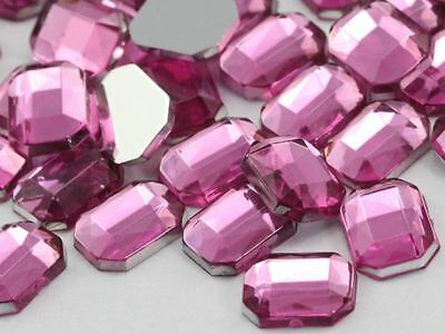 100 Pieces 10x6mm Hot Pink H112 Flat Back Teardrop Acrylic Jewels High Quality Pro Grade