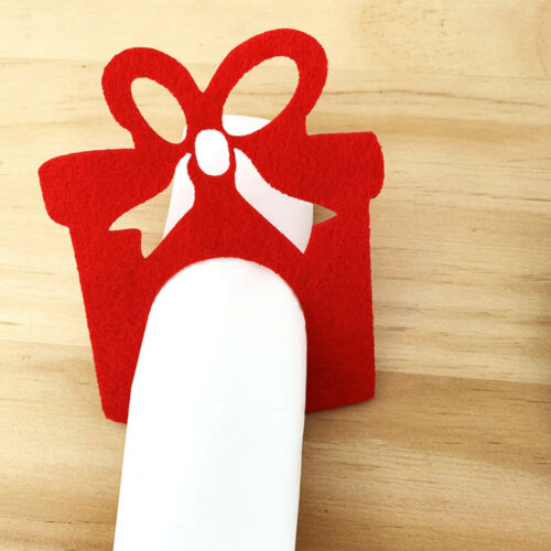 12pcs Christmas Napkin Ring Cute Napkin Buckle for Christmas Party Dinner