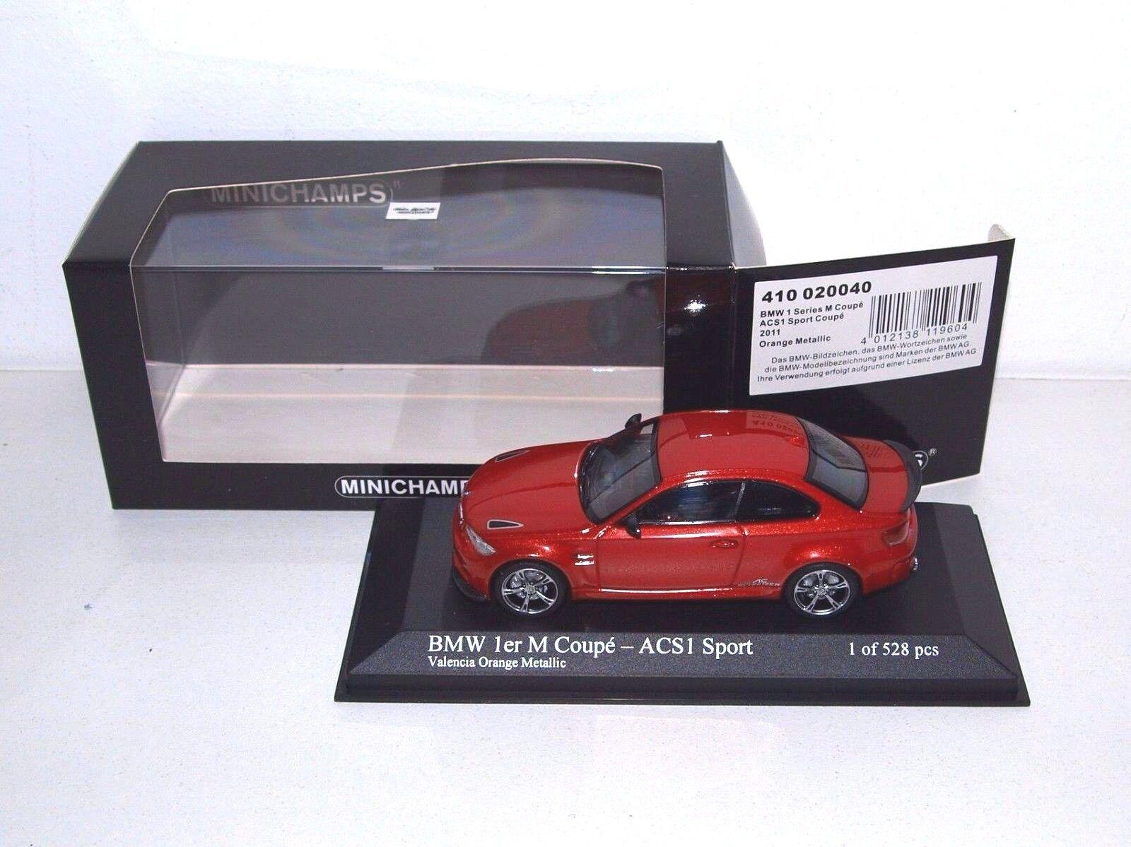BMW 1 series 1er M Coupe 2011 ACS1 orange Minichamps 1 43 410 020040 NEW