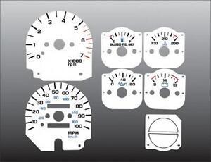 1992-1995-Jeep-Wrangler-Instrument-Dash-Cluster-White-Face-Gauges-92-95
