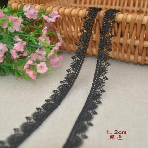selling by the yard Black color 1//2 inch wide lovely  embroidery lace trim