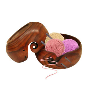 Wooden-Yarn-Bowl-Holder-Handcrafted-Gift-For-Skeins-Knitting-Crocheting-TFSU