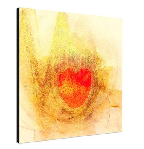 60x60cm Paul Sinus Art Leinwandbild modern abstrakt rot gelb orange beige/_067