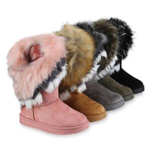 best website 4ccc2 037b4 Details zu Damen Schlupfstiefel Kunstfell Warm Gefütterte Stiefel Winter  819888 Schuhe