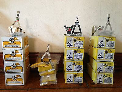 NOS Pair VTG ALE Toe Clips Alloy//Chrome//Stainless for Campagnolo Style Pedal NIB
