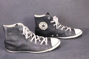 CB617-Converse-All-Star-Light-Hi-Damen-Chucks-Sneaker-Gr-39-schwarz-Leder