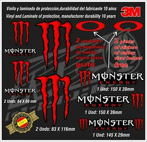 Monster-Energy-Stickers-pegatinas-aufkleber-autocollants-adesivi-Helmet-Monster