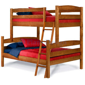Details About Twin Over Full Bunk Bed Woodworking Plans Design 1205 Cutting List Included