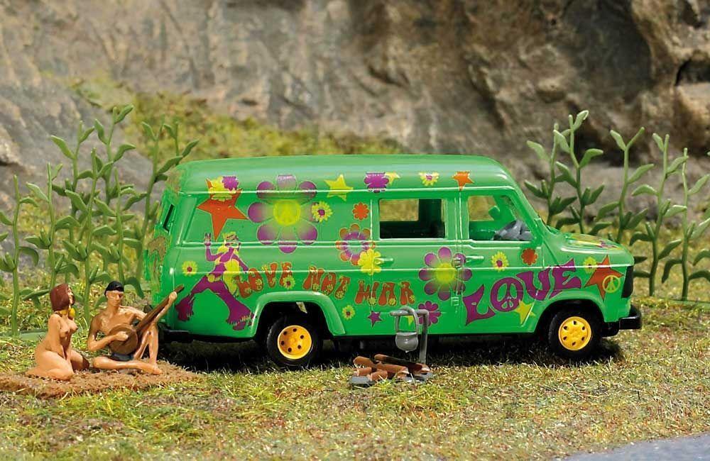 OO HO Life Scenario - WILDERNESS campeggio 7702 con Van & Statuette - Busch 7702 campeggio P3 1b02e0