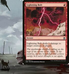 Lightning Bolt Mono Red Burn Deck Lava Spike MTG Magic Gathering 60 cards