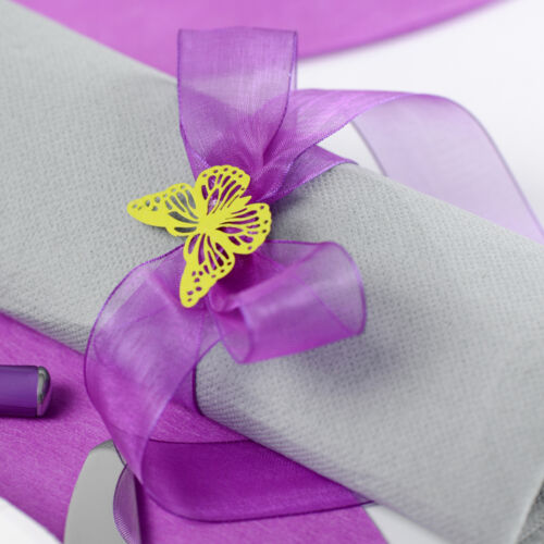 Organzaband 40mm x20m Fuchsia Fixation mariage chiffonband geschenkband